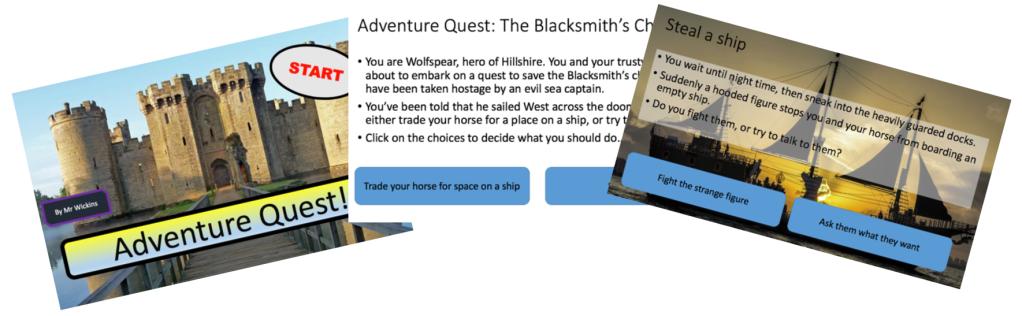 Adventure Quests Digital Literacy IT Primary Computing