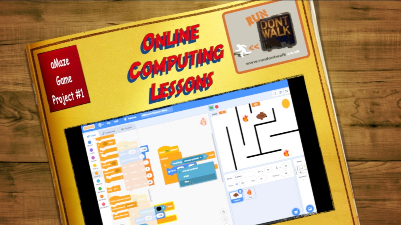 Primary Computing Online Lessons Scratch aMaze Game